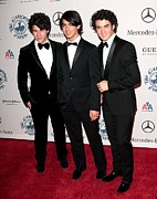 Beverly Hilton Hotel Metal Prints - Nick Jonas, Joe Jonas, Kevin Jonas Metal Print by Everett