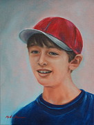 Baseball Cap Painting Prints - Nick Print by Martha Manco