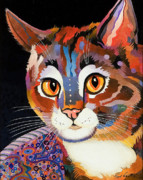 Feline Paintings - Nickels III by Bob Coonts