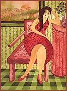 Figurative Tapestries - Textiles - Nicki by Leslie Marcus