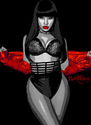 Young Money Prints - Nicki Minah Vampire Red by GBS Print by Anibal Diaz