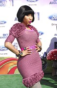 Nicki Minaj Prints - Nicki Minaj At Arrivals For 2011 Bet Print by Everett