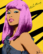 Nicki Minaj Mixed Media - Nicki Minaj by VJay Seminiano