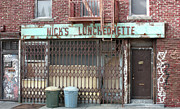 Street Sculptures - Nicks Luncheonette New York Store Front - Randy Hage by Randy Hage