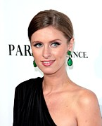 Drop Earrings Metal Prints - Nicky Hilton At Arrivals For Paris, Not Metal Print by Everett