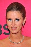 Diamond Earrings Photo Framed Prints - Nicky Hilton Wearing A Mouawad Necklace Framed Print by Everett