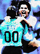 Nicolas Nixo Soccer Print by Nicolas Nixo