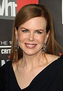 Diamond Earrings Framed Prints - Nicole Kidman At Arrivals For 16th Framed Print by Everett
