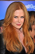 Hair Parted In The Middle Framed Prints - Nicole Kidman At Arrivals For Just Go Framed Print by Everett