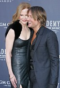 Gray Dress Posters - Nicole Kidman, Keith Urban At Arrivals Poster by Everett
