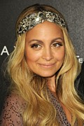 Hair Accessory Metal Prints - Nicole Richie At A Public Appearance Metal Print by Everett