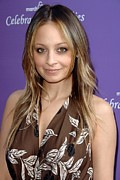 Hair Parted Posters - Nicole Richie At Arrivals For March Poster by Everett