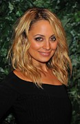Red Carpet Prints - Nicole Richie At Arrivals For Qvc Red Print by Everett
