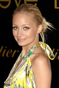 Hair Bun Photo Framed Prints - Nicole Richie Wearing A Dries Van Noten Framed Print by Everett