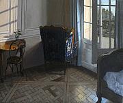 Nicole's Room Print by Richard T Scott