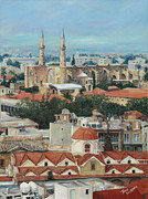 Trench Paintings - Nicosia Rooftops by Theo Michael