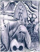 Fatutoa Art - Nifomanu Warclub by Michael Fatutoa
