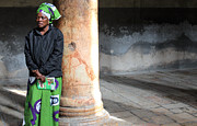 Praying Photo Originals - Nigerian Woman Praying at Nativity Church by Munir Alawi