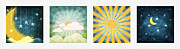 Sunrise Pastels Posters - Night And Day  Poster by Setsiri Silapasuwanchai
