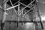 Island Light Photos - Night at the Pier  by Drew Castelhano