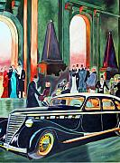 Night At The Theater Print by Margaret Fortunato