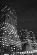 New York City Skyline Framed Prints - Night At World Financial Framed Print by Christopher Kirby