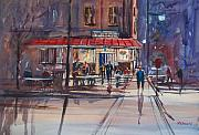 Night Cafe Paintings - Night Cafe by Ryan Radke