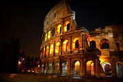 Ruins Photos - Night Colosseum by Kevin Flynn
