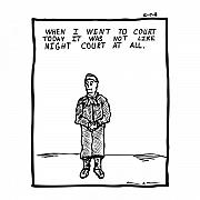 Cartoon Drawings - Night Court Comic by Karl Addison
