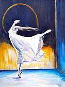 Shadow Dancing Paintings - Night Dancer by Melanie Bourne