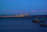 Night Descending On Seattle Print by Dale Stillman
