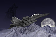 F-18 Digital Art - Night Egress by Clay Greunke