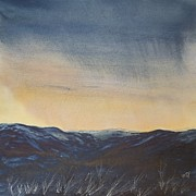Grasslands Prints - Night falling Print by Vandy Massey