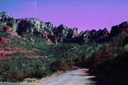 Sedona Prints - Night Falls on Sedona Print by Julie Lueders