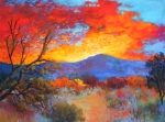 Arizona Pastels - Night Fever by M Diane Bonaparte