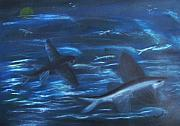 Fish Pastels - Night Flight by Thomas J Norbeck