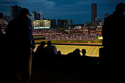 Friendly Confines Prints - Night Game at Wrigley Field Print by Anthony Doudt