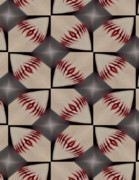 Abstract Baseball Prints - Night Game Print by Maria Watt