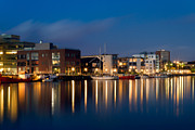 Denmark Photos - Night Harbor by Gert Lavsen