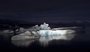 Jökulsá Prints - Night Ice Print by Roddy Atkinson