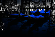 Venice Waterway Posters - Night in Venice Poster by Eggers   Photography