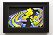 Color Reliefs Framed Prints - Night Framed Print by Jason Amatangelo