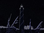 Cape Hatteras Lighthouse Posters - Night Light - Digital Art Poster by Al Powell Photography USA