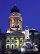 Karl Friedrich Schinkel Prints - Night lights Berlin  Print by Sergey Korotkov