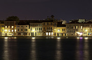 Venice Travel Prints - Night Lights Print by Marion Galt