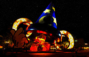 Walt Disney World Florida Art - Night Magic by David Lee Thompson