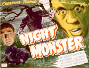 1942 Movies Posters - Night Monster, Bela Lugosi, 1942 Poster by Everett
