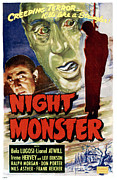 Horror Movies Posters - Night Monster, Left Bela Lugosi Poster by Everett