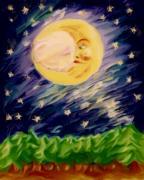 Night Moon Print by Shelley Bain