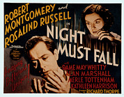 Newscanner Framed Prints - Night Must Fall, Robert Montgomery Framed Print by Everett